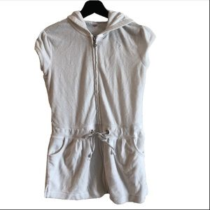 JUSTICE SWIM! White Hooded Cloth Swim Cover Up